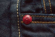 My new Red Seal selvedge denim Handcrafted by Replay Denim Vintage, Denim Branding, Textiles, Denim Fashion, Metal, Denim Jeans, Menswear, Buttons, Belt
