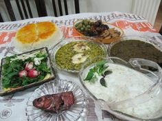 Gilaan dinner table. All yummy food. North of Iran. #Pin By:Pinterest++ for iPad#