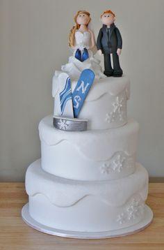 Ski Theme Wedding Cake Topper Decoration Gift By Annacrafts 22000
