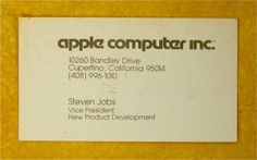 The business card of Steve Jobs in 1979