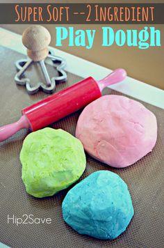 Homemade 2 Ingredient Play Dough