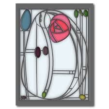 Shop Art Nouveau Roses Design in Stained Glass Effect Poster created by ArtformNouveau. Rose In A Glass, Stained Glass Rose, Stained Glass Designs, Stained Glass Patterns, Glasgow, Charles Rennie Mackintosh Designs, L'art Du Vitrail, Stencil Designs, Rose Design