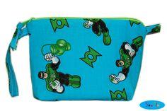 NEW DC Comics Green Lantern Makeup Organizer  Zipper Bag by SewFlo, $20.99