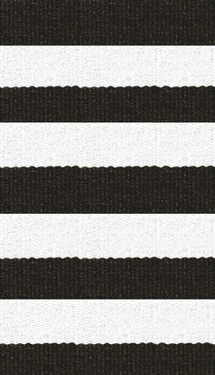 Hampton 4-inch Stripe Indoor/Outdoor PVC Rug - Brown and White