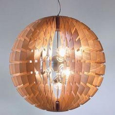 Helios Wood Pendant Lamp by BLux, now on sale at 20% off | 2Modern Furniture & Lighting