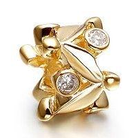 Pandora Bergkristall 14k vergoldete Perlen Charme