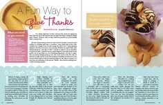 imagemaking: Magazine Layout Design i love how the steps are at the bottom of the page. and the color schemes Magazine Page Layouts, Magazine Layout Design, Magazine Examples, Make Your Own Chocolate, Magazine Spreads, Newspaper Design, Publication Design, Fancy, Book Layout