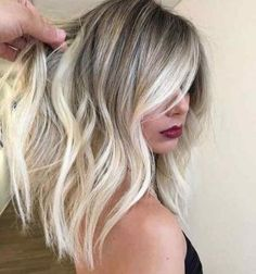 Stunning blonde hair lob