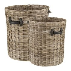 Beautiful textured basket with leather handles