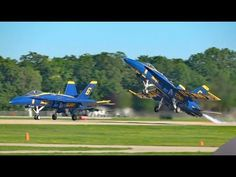 Blue Angels Spectacular at Oshkosh - Sat 29 July 17 Fleet Week, July 17, Blue Angels, Air Show, Kids Videos, Stunts, Fighter Jets, Military, Navy