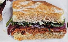 Roast Beef Sandwiches with Lemon-Basil Mayonnaise and Roasted Red Onions