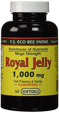 Y.S. Eco Bee Farm Royal Jelly Mega Strength 1,000 mg 60 Sgels -- Check out this great product.
