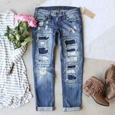Stitch & Patch Boyfriend Jeans                                                                                                                                                                                 More