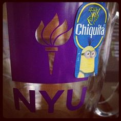 Something that makes me happy- The amazing opportunities and experiences I've had at #NYU.  #stickaminiononit #week4 #chiquita (Photo by @Julie DeVito)