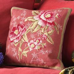 We have a beautiful collection of floral designs from Kaffe Fassett. This is 'Antoinette', a subtle study of roses.
