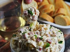 Who says Chicken Cordon Bleu is reserved for sit-down dinners? Here, we've transformed it into a dip with chicken, ham, and plenty of melted cheese. Plus, by using a slow-cooker, you can make it in advance and just keep it warm until it's time to serve. \n