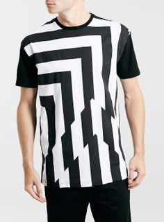 MONO GLITCH STRIPE T-SHIRT