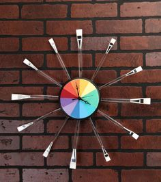 Craft Room Clock Project | #DIY Craft Clock | Directions available at Joann.com | Supplies available at Jo-Ann Fabric and Craft Stores