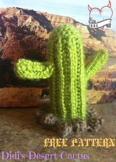Crochet Desert Cactus - Crochet Amigurumi Pattern