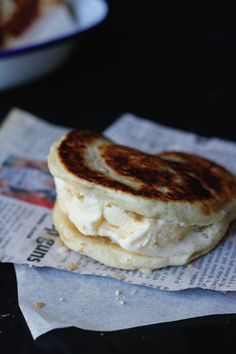 Hotteok Ice Cream Sandwiches