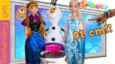Muñecas Elsa y Ana Gigantes de 91 cm en Spa Orbeez con Olaf - juguetes Frozen
