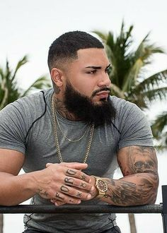 What are the quality men's hairstyles to get proper now? These are our top alternatives that are exquisite cool and totally hot for now. These men's hairstyles consist of the most famous haircuts, next stage looks, Black Men Beards, Handsome Black Men, Gorgeous Black Men, Beautiful Men, Eye Candy Men, Hot Black Guys, Black Man, Sexy Beard, Trending Haircuts