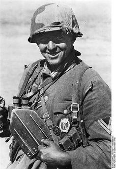 A German soldier at Stalingrad in September, 1942.