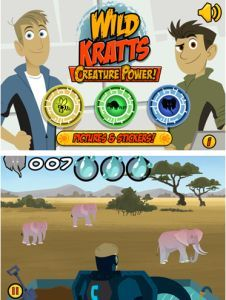 Wild Kratts Creature Math App - kids practice math and learn about wild animals at the same time, a great learning app for kids from PBS Kids.