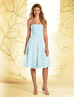 Alfred Angelo Bridal Style 540 from Disney Royal Maidens Bridesmaid Dresses - has the lace