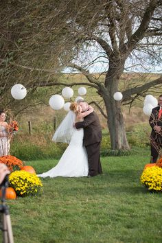 Meagan & Travis's Fall Wedding at Spring Meadow Farm Photographer:  Gayle Driver Photography