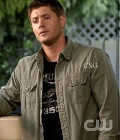 ff4964c8 Jensen Ackles (Dean Winchester) is sporting a Lucky Brand Jeans Triumph  Tiger 80 T-Shirt