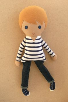 Reserved for Brooke Fabric Doll Rag Doll Boy Doll by rovingovine