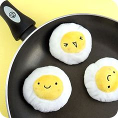 Buy Kawaii Fried Egg Mini Plush Keychain at Tofu Cute