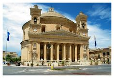 Mosta dome - Mosta, Malta watched a display by the Red Arrows from a hill overlooking Mosta Dome in 1971 Places To Travel, Places To See, Places Ive Been, Malta History, Malta Gozo, Destinations, Southern Europe, Interesting Buildings, Place Of Worship
