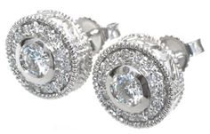 #Diamond #earrings with 0.62carat total diamond weight in 14k white gold | #sparkle #dazzle #gift #Mom #love