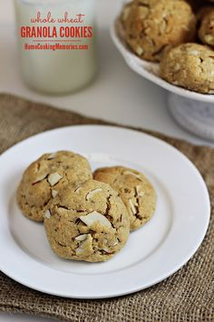 Whole Wheat Granola Cookies recipe