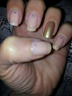Pink&golden. ..#my#nails#art#makeup#cosmetic#vernis#smalto#colors#pink#golden#pois#nagellack#love#likes#