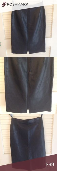 Agnes B leather pencil skirt Agnes B leather skirt matches black leather jacket in closet Agnes B Skirts Pencil