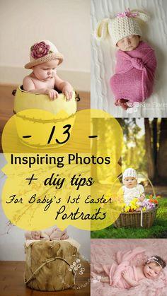 13 Adorable Inspiring Photos + DIY Tips To Capture Baby's 1st Easter @Lauren Davison Davison Treat