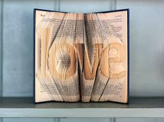 Folded Book Art  Love  Hardcover book by KamiAndCo on Etsy, $61.89
