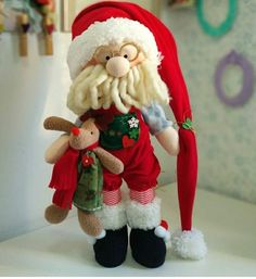 Christmas Crafts, Christmas Decorations, Holiday Decor, Santa Doll, Canes, Doll Patterns, Projects To Try, Alice, Dolls