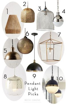 Pendant Light Picks - Becki Owens