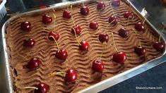 reteta tiramisu cu visine ciocolata piscoturi mascarpone fara coacere savori urbane Sour Cherry, Chocolate Cream, Summer Desserts, Cheesecakes, Deserts, Sweets, Fruit, Cooking, Recipes