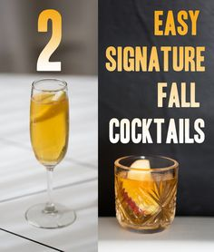 Get Sh*t Done: Two Easy Fall Cocktails For Weddings