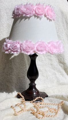 Paralume rosa Shabby Chic paralume paralume Nursery di ElluraSage