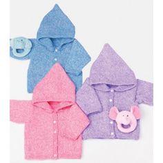 Mary Maxim - Free Baby Hoodie Knit Pattern - Free Patterns - Patterns  Books