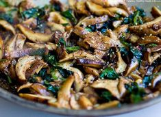 low carb vegan | low carb / Wilted Spinach Salad with Balsamic Mushrooms vegan, serves ...