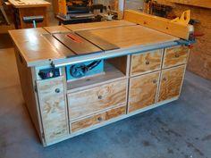 Tablesaw Cabinet - by Knightrider @ LumberJocks.com ~ woodworking community