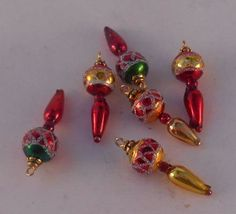 miniature Christmas tree top (finial) for the dollhouse - inspiration (beeds)