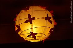 Girl's Room Butterfly Paper Lamp Shade – Ikea Hack Paper Lampshade, Lampshades, Butterfly Lamp, Paper Butterflies, Diy Paper, Paper Crafts, Hanging Wedding Decorations, Wedding Lanterns, Sweet Night